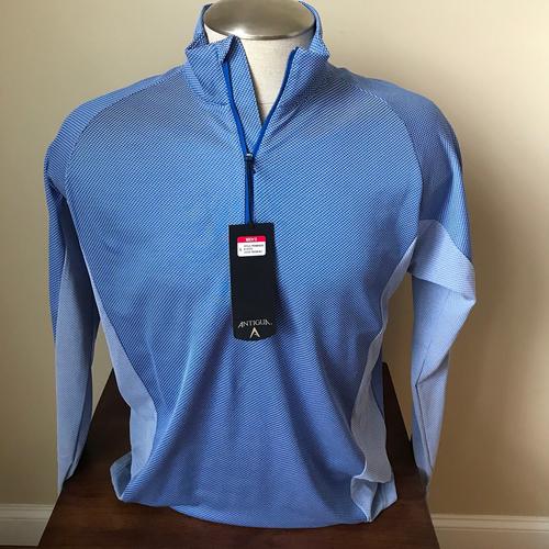 Photo of UMPS CARE AUCTION: Antigua Promenade Blue Half Zip Pullover, Size Large