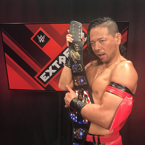 Photo of Shinsuke Nakamura SIGNED United States Championship Replica Title Belt (Extreme Rules - 07/15/18)