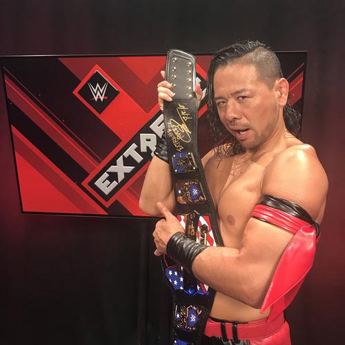 Photo of Shinsuke Nakamura SIGNED United States Championship Replica Title Belt (Extreme Rules - 07/15/18)