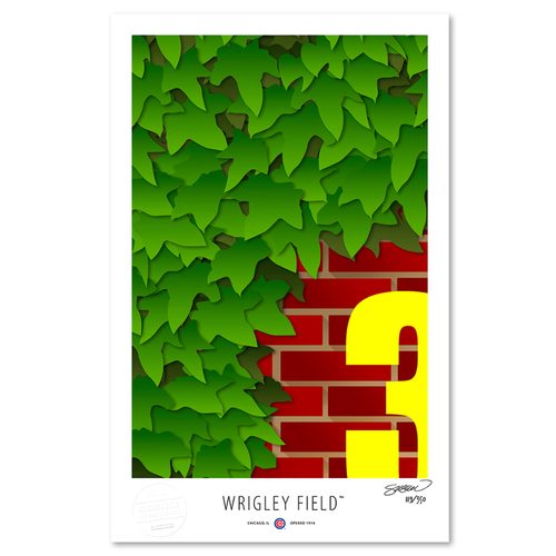 Photo of Wrigley Field - Collector's Edition Minimalist Art Print by S. Preston #119/350  - Chicago Cubs