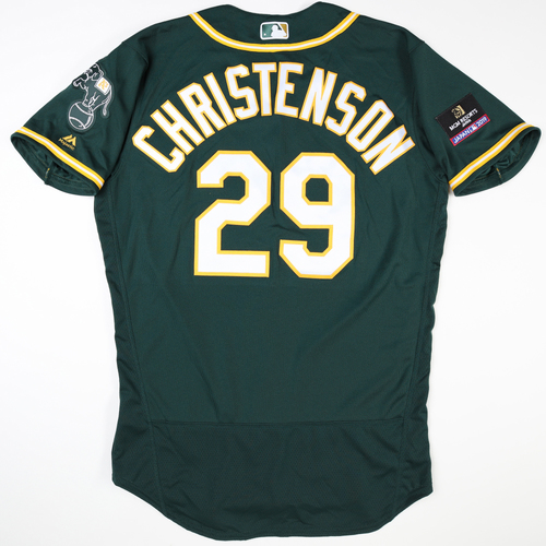 Photo of 2019 Japan Opening Day Series - Game Used Jersey - Ryan Christenson, Oakland Athletics at Nippon Ham Fighters -3/17/2019