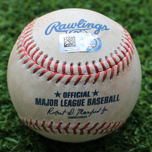 Photo of Game-Used Baseball: Spencer Turnbull Pitched 84th Career Strikeout (DET @ KC - 6/11/19)
