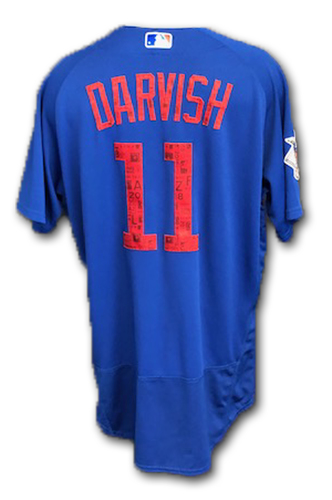 Photo of Yu Darvish Team-Issued Spring Training Jersey -- Spring Training 2018 -- Size 46