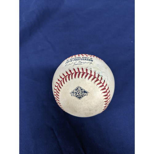 Los Angeles Dodgers Game-Used Baseball: Pitcher: Dustin May, Batter: Asdrubal Cabrera (RBI Single) - Top 8 - 10/4/19, NLDS Game 2 vs. WAS