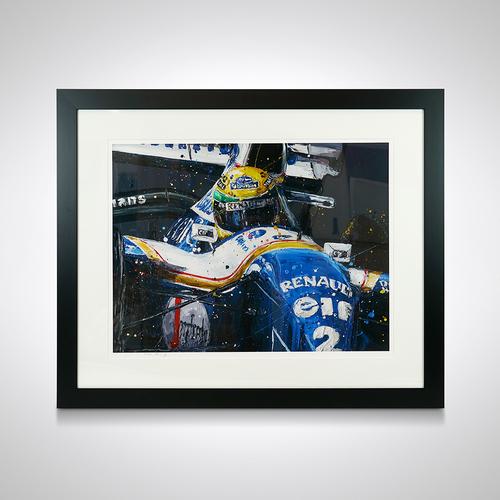 Photo of Ayrton Senna Williams Framed Print - Paul Oz