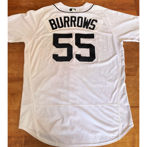 Photo of Beau Burrows Team Issued Detroit Tigers #55 Home Jersey (MLB AUTHENTICATED)