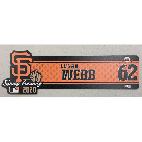 Photo of 2020 Spring Training Locker Tag - #62 Logan Webb