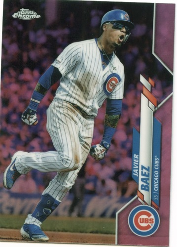 Photo of 2020 Topps Chrome Pink Refractors #198 Javier Baez
