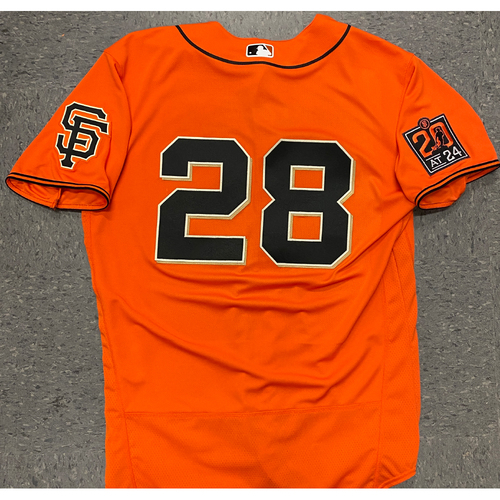 Photo of 2020 Team Issued Orange Home Alt Jersey - #28 Buster Posey - Size 46