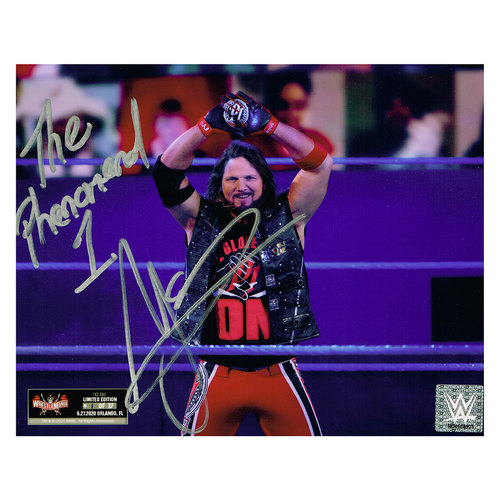 Photo of AJ Styles SIGNED WrestleMania 37 Exclusive 8x10 Photo (#1 of 37)