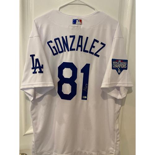 Photo of Victor Gonzalez Authentic Autographed Los Angeles Dodgers Jersey