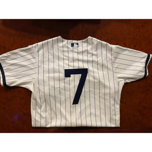 Photo of Tim Anderson Game-Used Jersey - August 12, 2021 - Dyersville, Iowa