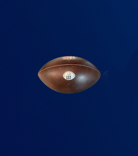 """Photo of Authentic """"The Duke"""" Game used football (10/7/2021 VS. Seattle Seahawks)"""