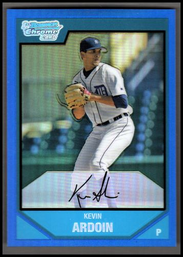 Photo of 2007 Bowman Chrome Prospects Blue Refractors #BC32 Kevin Ardoin