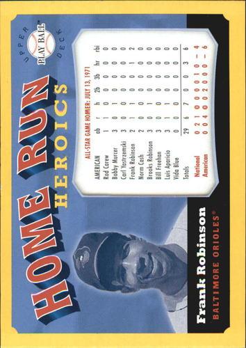 Photo of 2004 Upper Deck Play Ball Home Run Heroics #FR Frank Robinson AS
