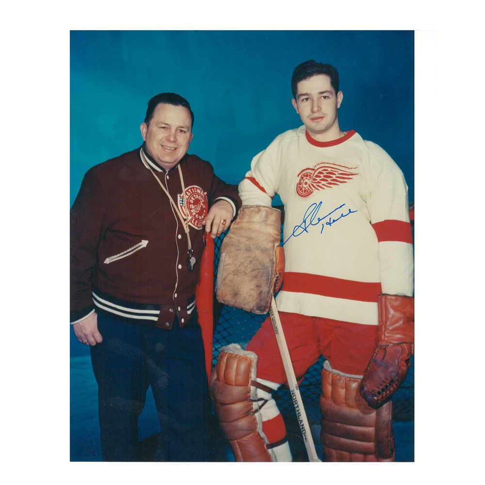 GLENN HALL Signed Detroit Red Wings 8 X 10 Photo - 70076