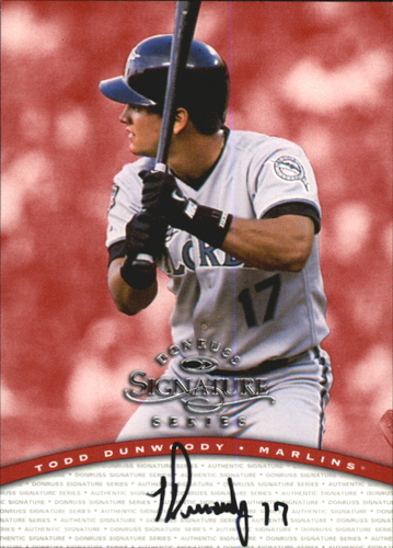 Photo of 1997 Donruss Signature Autographs #28 Todd Dunwoody/3900