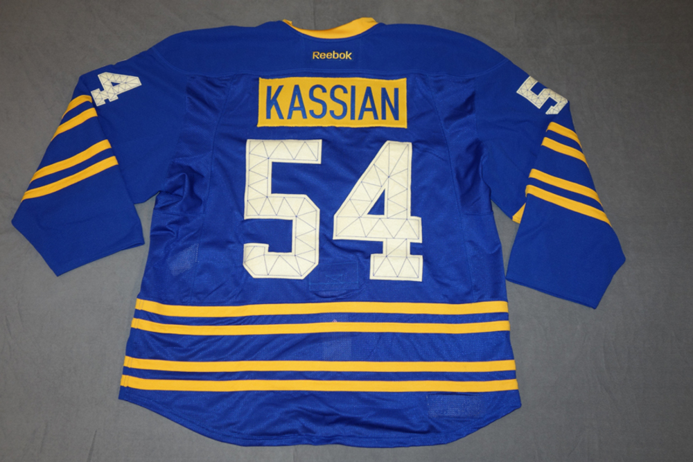 cc3c1091015 ... Zach Kassian 2011-12 Buffalo Sabres Team Issued 40th Anniversary Jersey  ...
