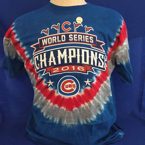 Photo of UMPS CARE AUCTION: Cubs World Series Commemorative Tie Die T-Shirt, Size XX-Large