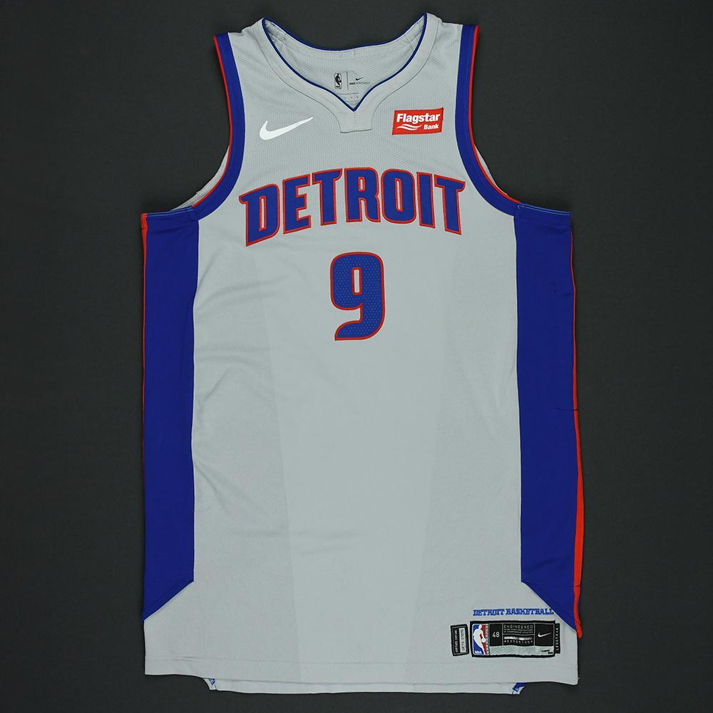 Langston Galloway - Detroit Pistons - Statement Game-Worn Jersey  - 2017-18 Season - Dressed, Did Not Play