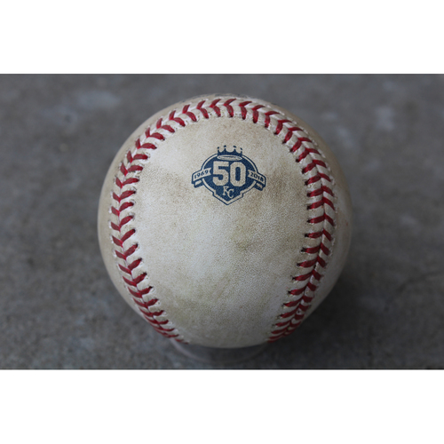 Photo of Game-Used Baseball: John Hicks 59th Career Hit (DET at KC - 5/4/18)