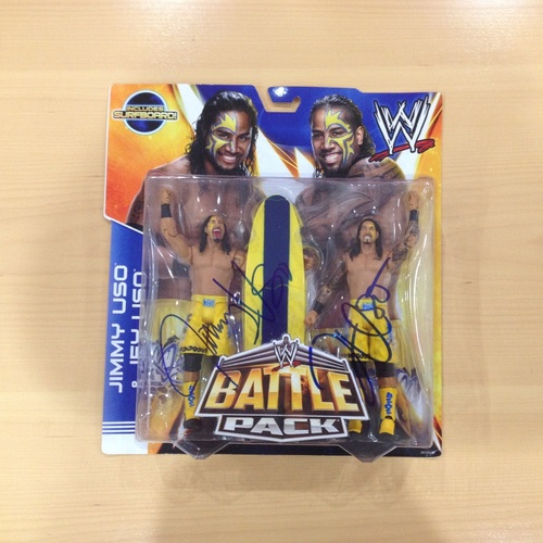 The Usos SIGNED Battle Pack Figures