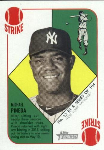 Photo of 2015 Topps Heritage '51 Collection #13 Michael Pineda