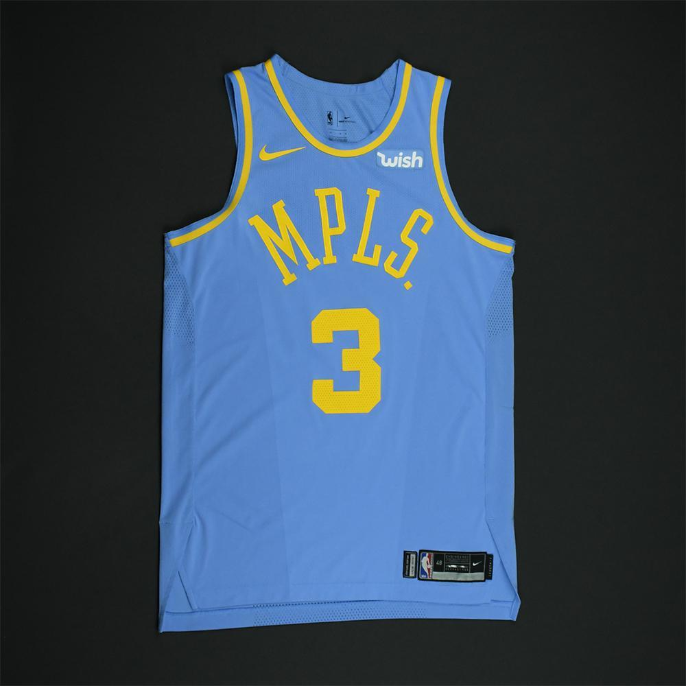 Corey Brewer - Los Angeles Lakers - Game-Worn Classic Edition Minneapolis Lakers 1948-52 Road Jersey - 2017-18 Season