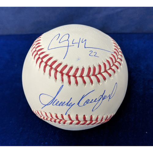 Photo of Kershaw's Challenge: Sandy Koufax and Clayton Kershaw Autographed Ball - Kershaw autograph is Not MLB Authenticated