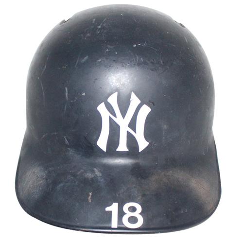 Photo of Didi Gregorius New York Yankees 2018 Game Used #18 Road Batting Helmet (10/5/2018)
