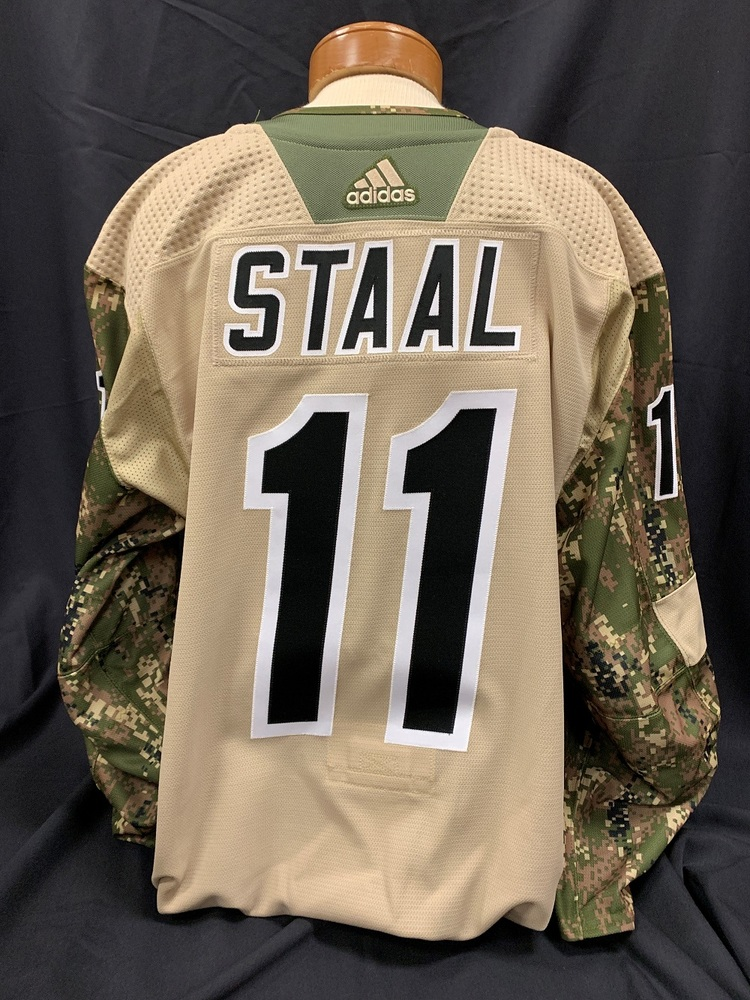 Jordan Staal #11 Autographed Military Appreciation Jersey