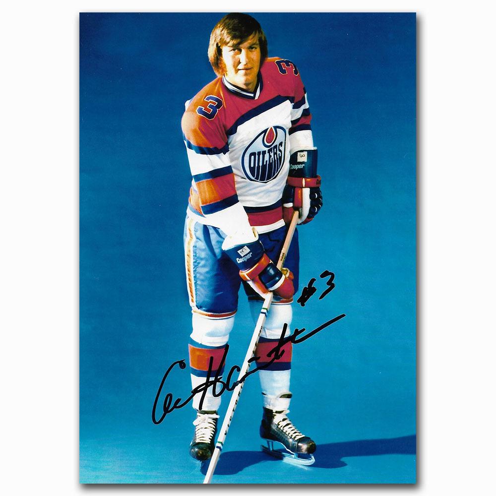 Al Hamilton Autographed Edmonton Oilers 4X6 Photo