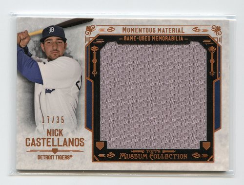 Photo of 2015 Topps Museum Collection Momentous Material Jumbo Relics Copper #MMJRNCS Nick Castellanos