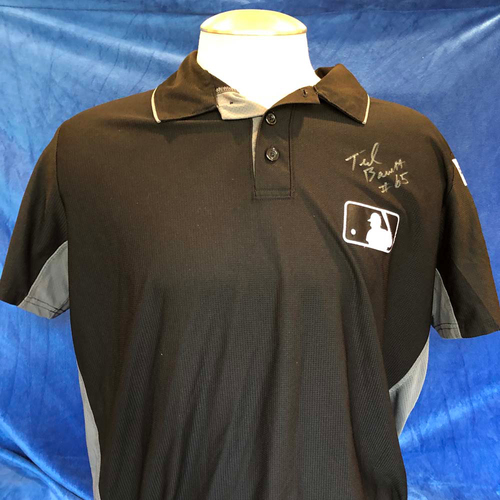Photo of UMPS CARE AUCTION: 2017 Post-Season Ted Barrett Signed Umpire Jersey, Size XL