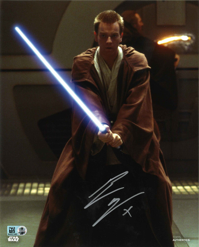 Ewan McGregor As Obi-Wan Kenobi 8X10 AUTOGRPAHED IN 'SILVER' INK PHOTO