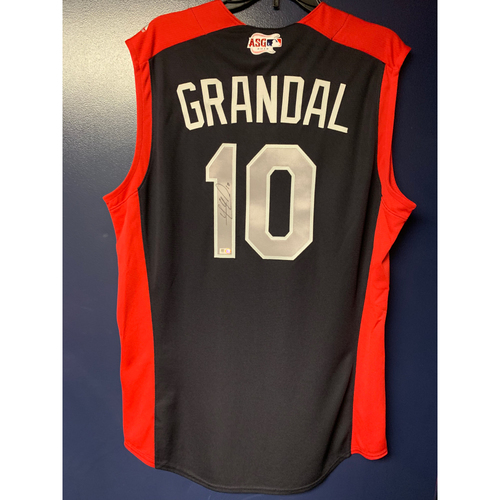 Photo of Yasmani Grandal 2019 Major League Baseball Workout Day Autographed Jersey