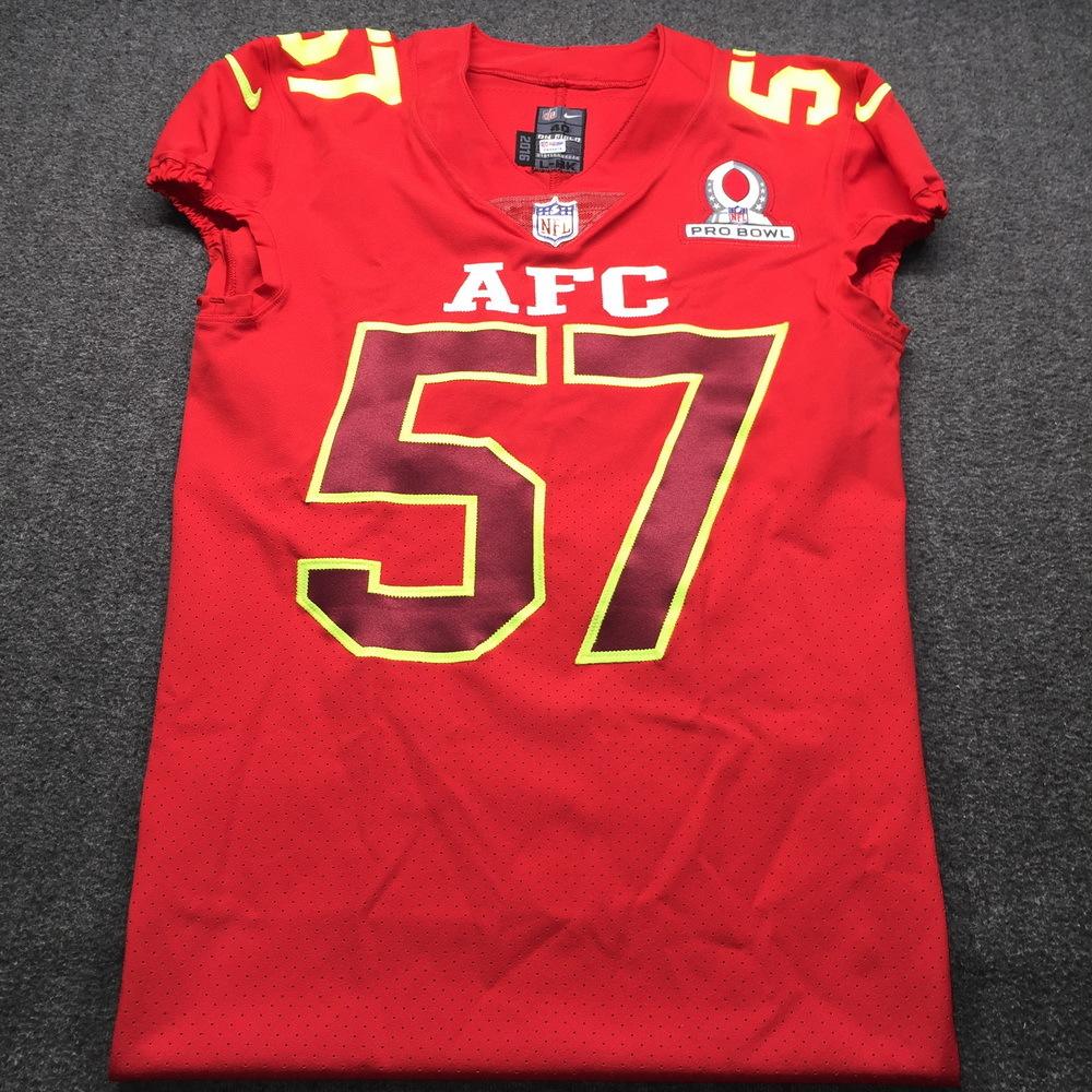NFL Auction | NFL - CJ Mosley Ravens Game issued 2017 AFC Pro Bowl ...