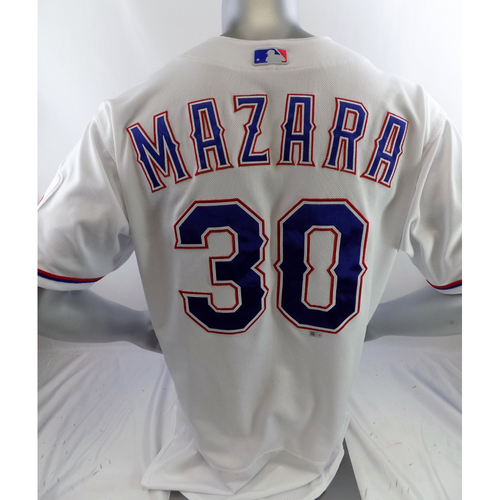 Photo of Game-Used White Homerun Jersey - Nomar Mazara - 6/8/19, Game 1
