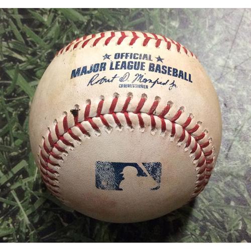 Photo of Game-Used Baseball CHC@MIL 07/26/19 - Pedro Strop - Ben Gamel: Go-Ahead, 2-Run Single