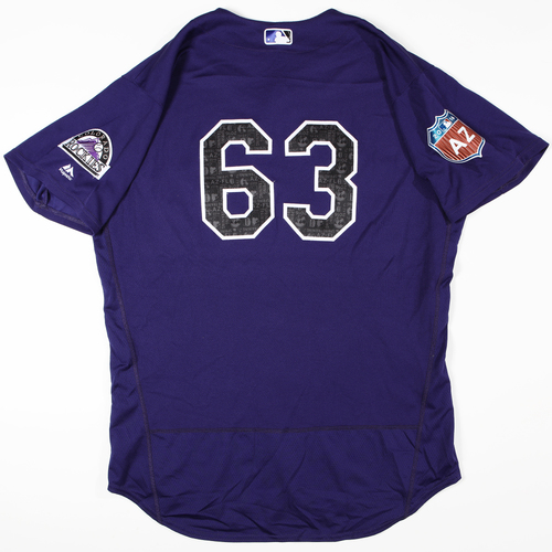 Photo of 2016 Spring Training - Spring Training Game Used Jersey - Brian Schlitter (Rockies)- Size- 50