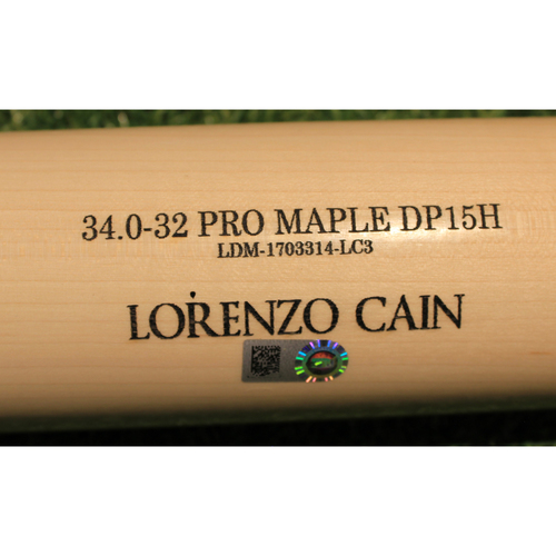 Photo of Team-Issued Bat: Lorenzo Cain #6 (Authenticated on 3/10/20)