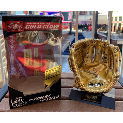Photo of Nick Markakis Autographed Mini-Gold Glove