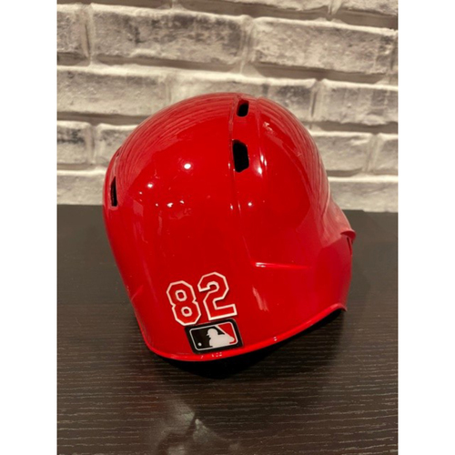 Photo of No. 82 -- Team-Issued Helmet -- Right Ear Flap -- Size 7 1/8