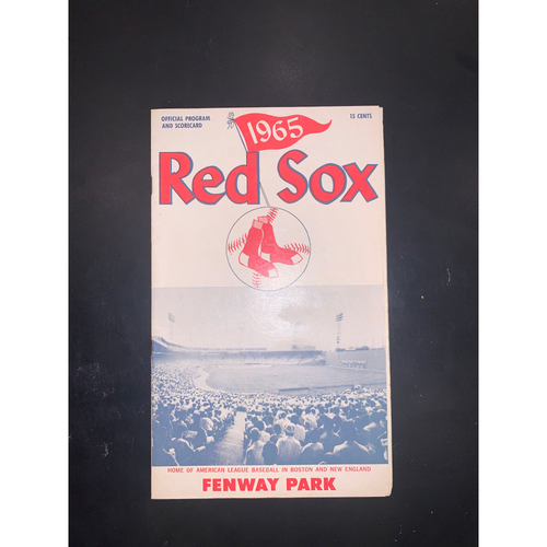 Photo of Baltimore Orioles at Boston Red Sox 1965 Official Program and Scorecard