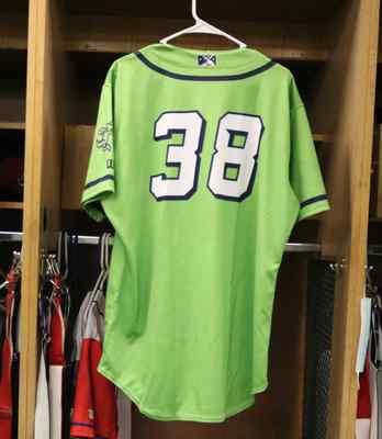 Stockton Ports Nick Brueser Asparagus jersey, #38, Size 44