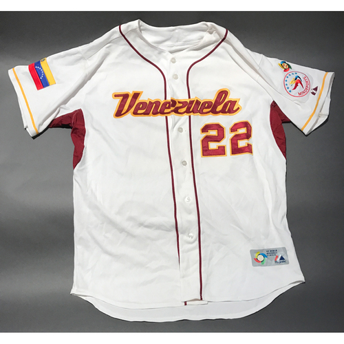Photo of 2009 World Baseball Classic Jersey - Venezuela Home Jersey, Granados #22