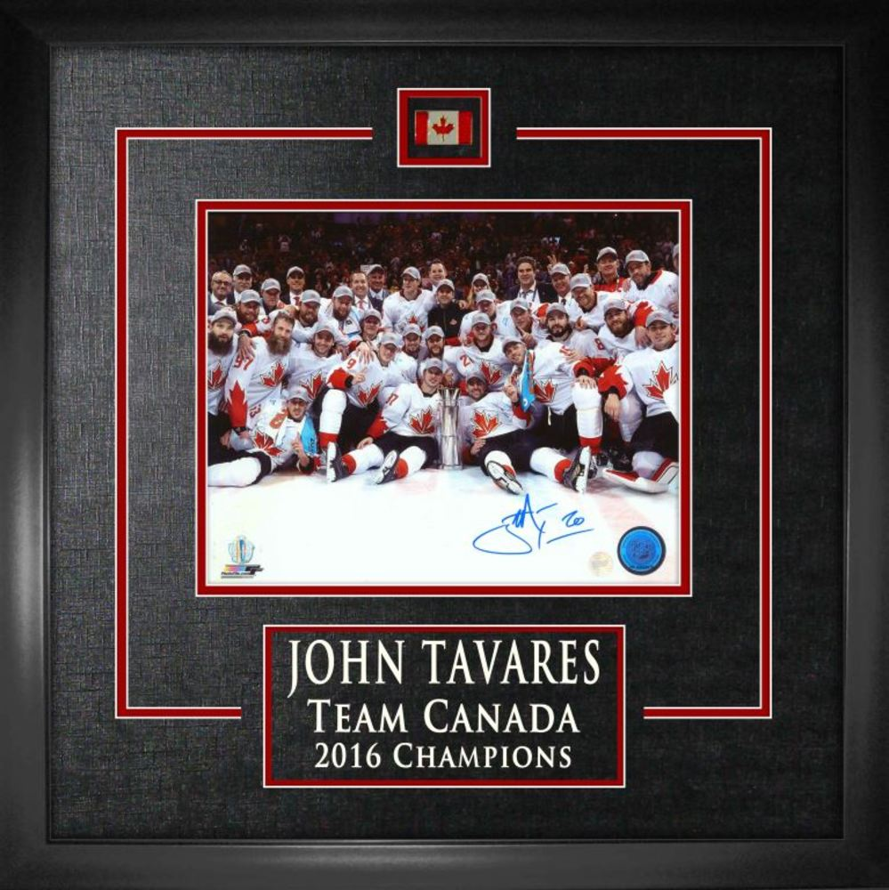 John Tavares - Signed 8x10 Etched Mat White WCOH 2016 Team Canada Celeb On Ice [Aatj150]-H