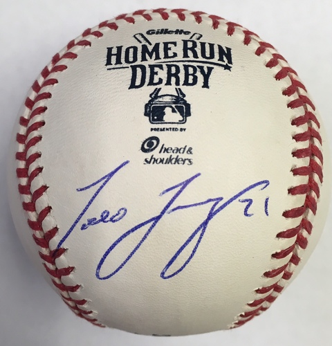 Photo of Todd Frazier Autographed 2015 Homerun Derby Logo Baseball