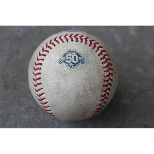 Photo of Game-Used Baseball: Giancarlo Stanton 1,001st Career Hit (NYY at KC - 5/18/18)