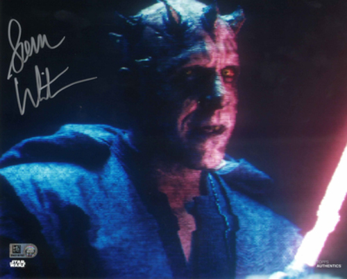 Sam Witwer As Maul  8X10 Autographed in 'Silver' Ink Photo